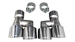 2018-2019 Ford Mustang GT, Quad Tip Kit - Dual Rear Twin 4.0
