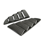 2015 - 2020 MUSTANG CARBON FIBER TYPE-VENTED SIDE WINDOW LOUVERS (PAIR)