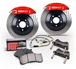 StopTech 2015 Ford Mustang GT Front BBK w/ Black ST-60 Calipers Drilled Cast Iron 360x32mm Rotors