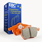 EBC 2015+ Ford Mustang 5.0L (w/Performance Package) Orangestuff Front Brake Pads