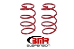 BMR 07-14 Shelby GT500 Front Drag Version Lowering Springs - Red