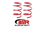 BMR 07-14 Shelby GT500 Front Handling Version Lowering Springs - Red