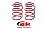 BMR 07-14 Shelby GT500 Front Performance Version Lowering Springs - Red